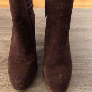 Barley worn dark purple kenzie bootie